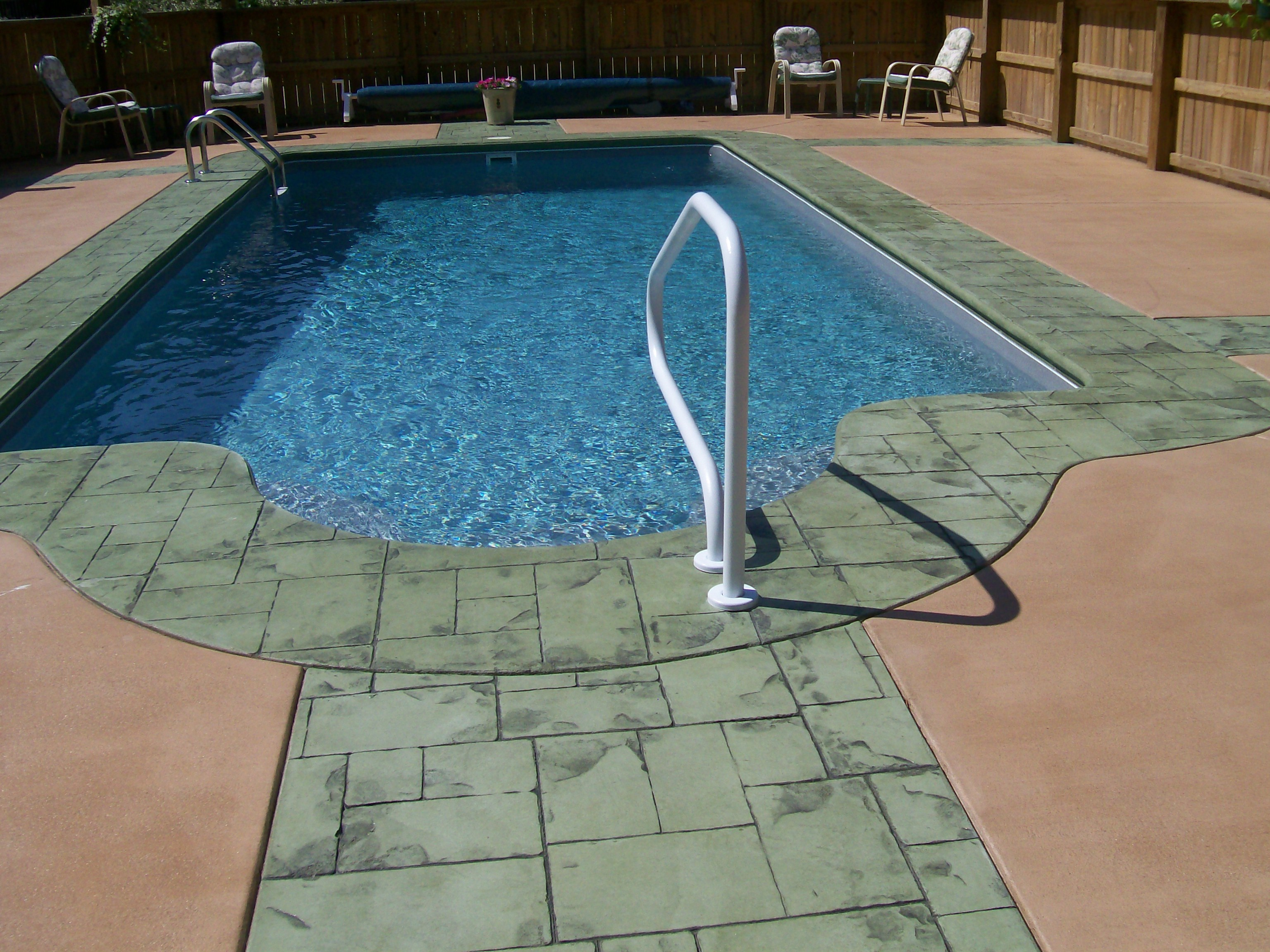 Nice Stamped Concrete Pool Deck