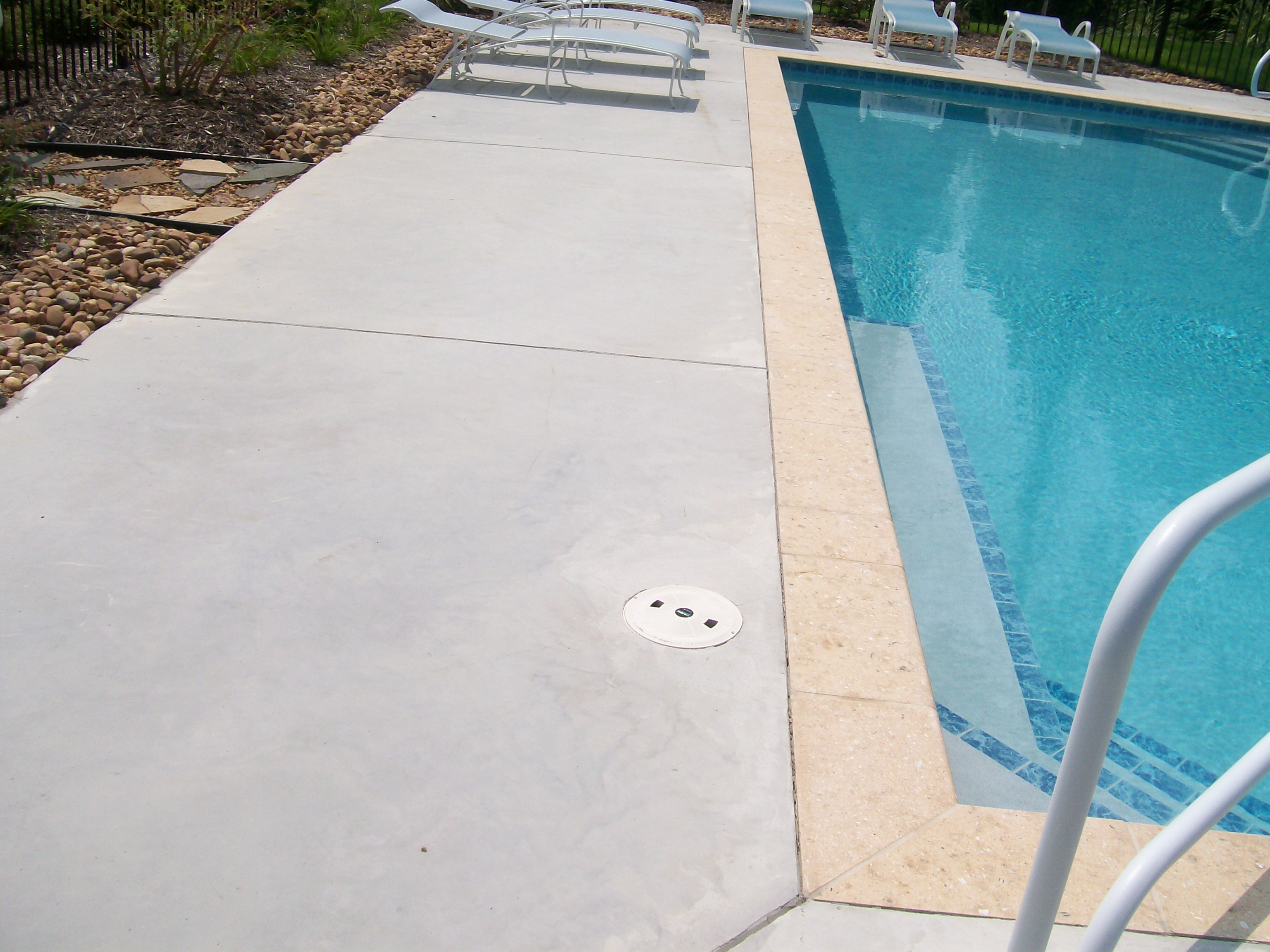 Concrete Pool Deck Finishes Stamped Border Concrete Pool Deck