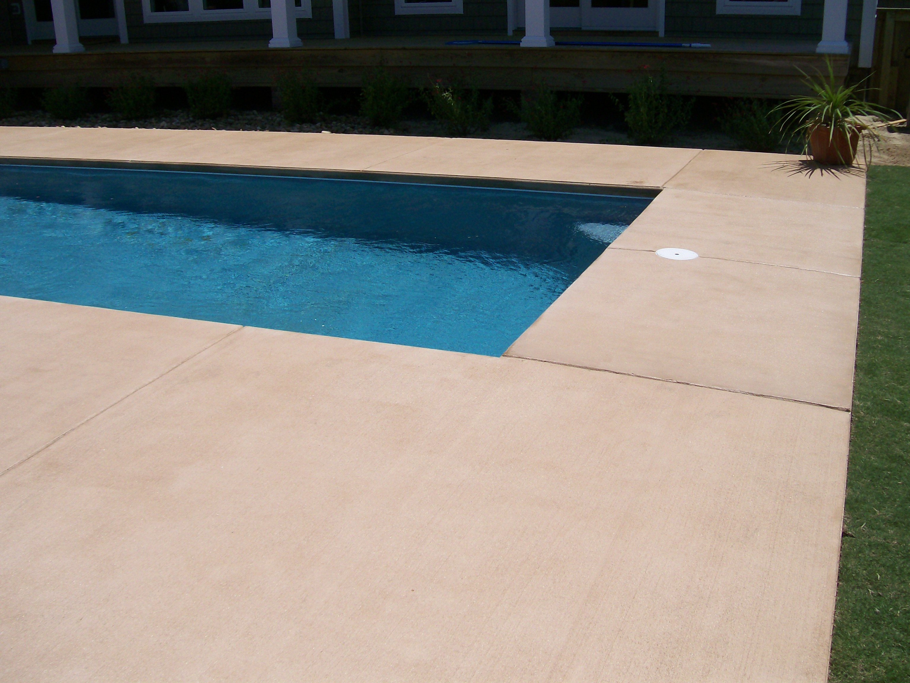 Colored Concrete Pool Deck Concrete