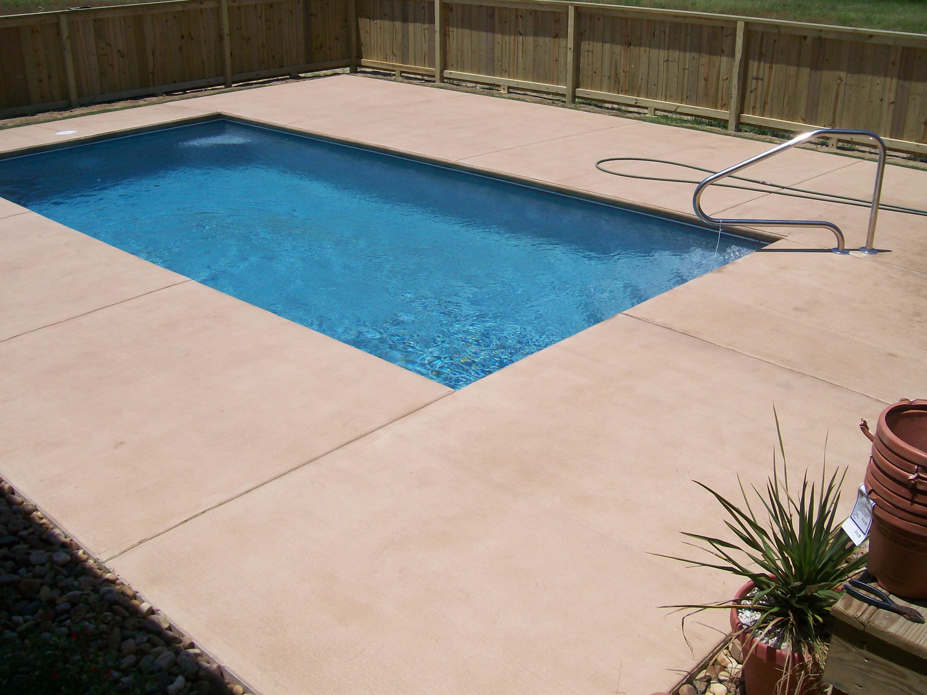 Color Concrete Pool Deck