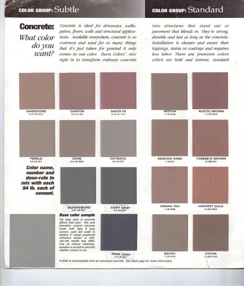 Davis Color Chart